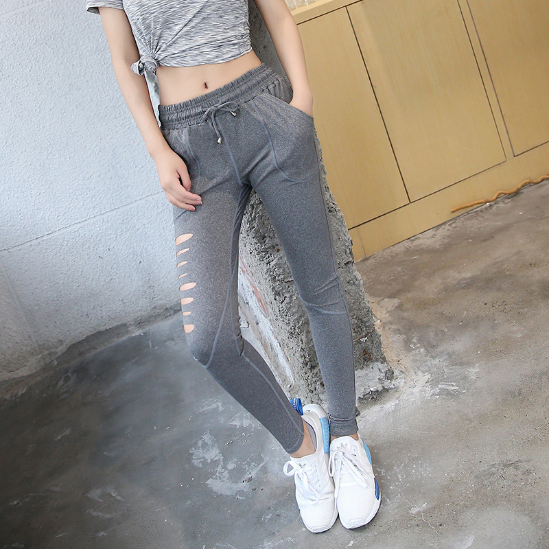 newest cutted sexy leggings outfit pants online shopping