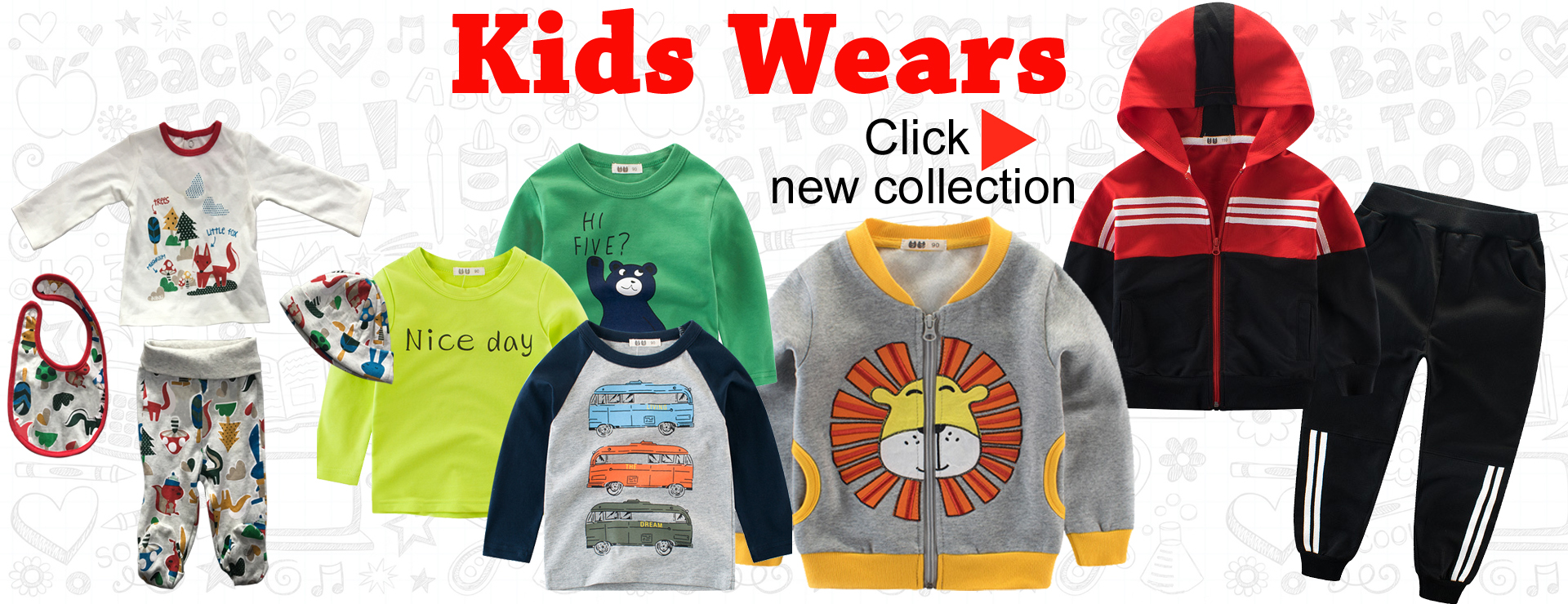 Kids wear kids clothes children garments