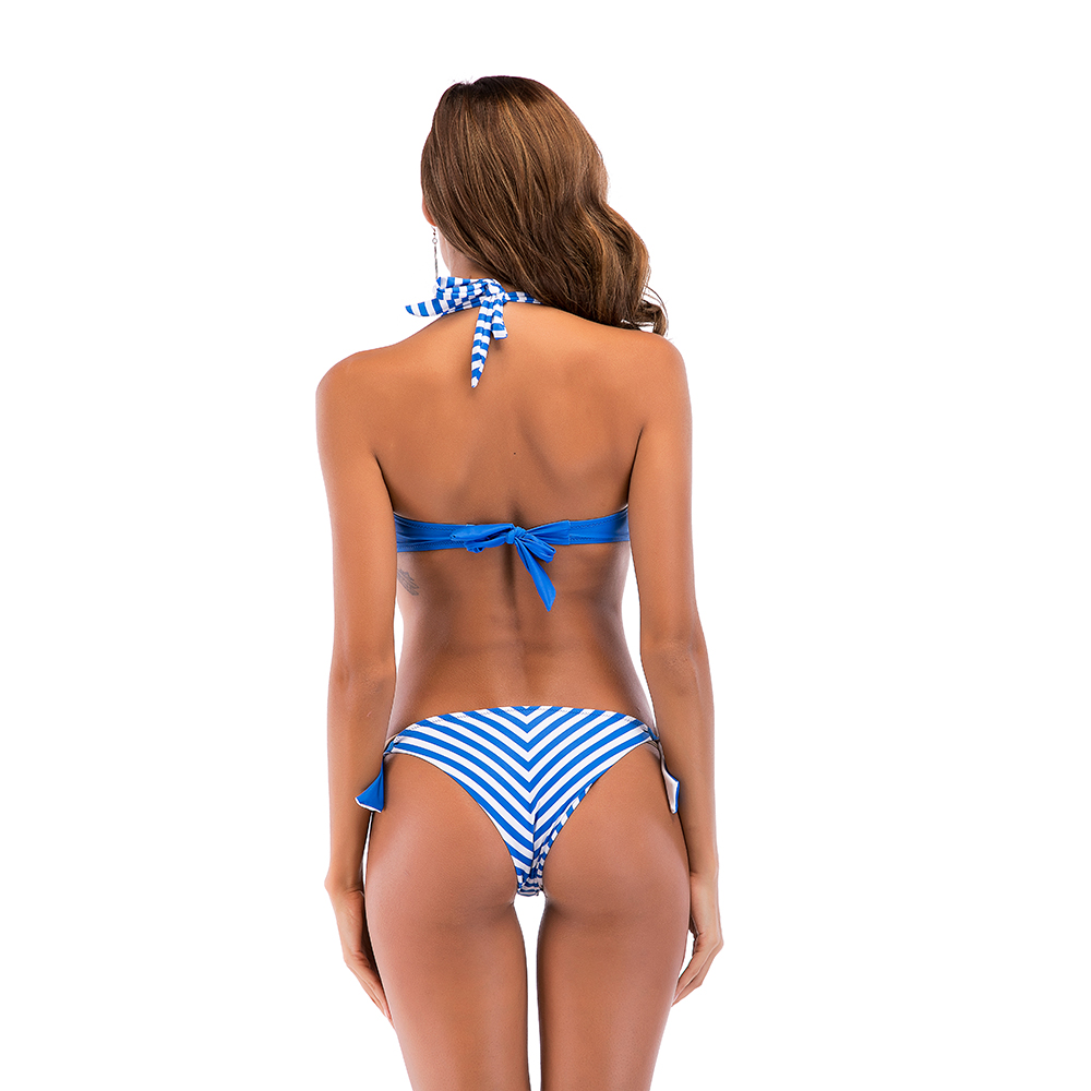 stripes many options or customer print underwire bikini suit